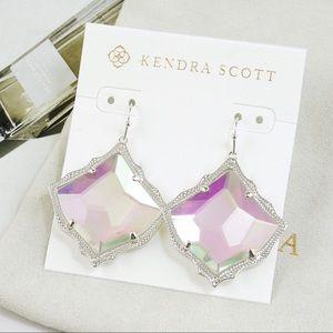 Kendra Scott Kirsten Dichroic Earrings Silver Tone